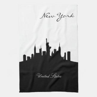Black and White New York Skyline Tea Towel