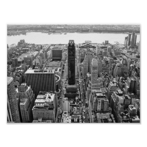 Black And White NYC Photoraph Poster