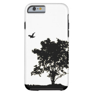 Black and White Oak tree with Crow iPhone 6 case Tough iPhone 6 Case