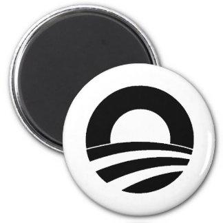 black and white obama logo 6 cm round magnet