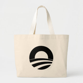 black and white obama logo bag