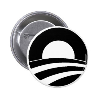 black and white obama logo buttons