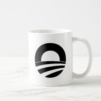 black and white obama logo coffee mug