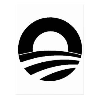 black and white obama logo postcard