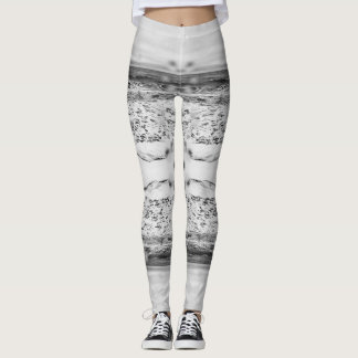 Black and White Ocean Leggings