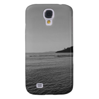Black and White Ocean Sunset Samsung Galaxy S4 Covers