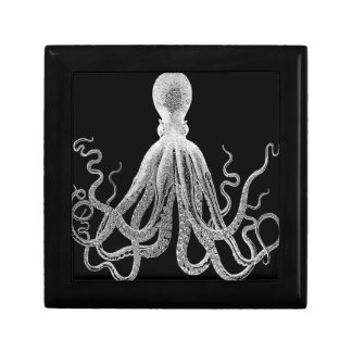 Black and white octopus gift box