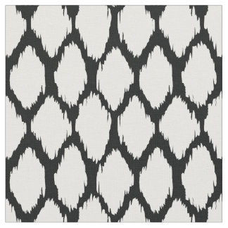 Black and White Ogee Pattern Fabric