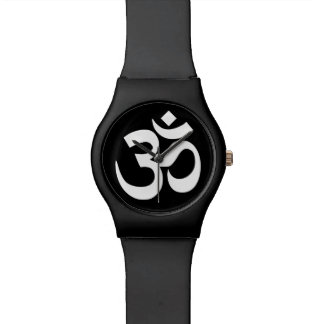 Black and White Om Symbol Wrist Watches