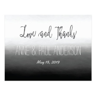 Black and white ombre Thank You Card