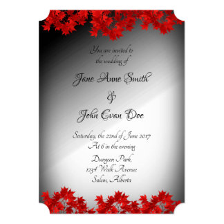 Black and White Ombre Wedding Invitation