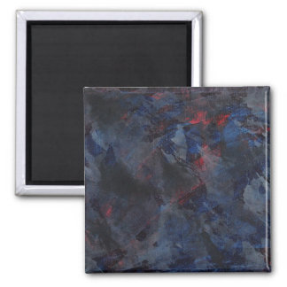 Black and White on Blue and Red Background Magnet