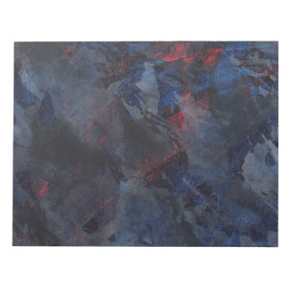 Black and White on Blue and Red Background Notepad