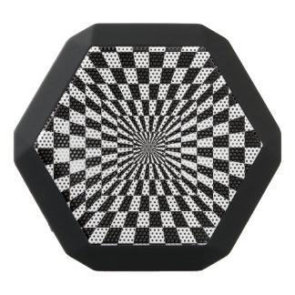 Black and White Optical Illusion. Black Bluetooth Speaker