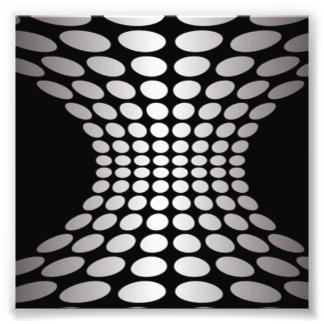 Black and White Optical Illusion Photograph