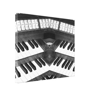 Black and White Organ Canvas Print