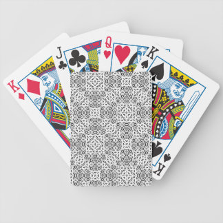 Black and White Oriental Ornate Bicycle Playing Cards