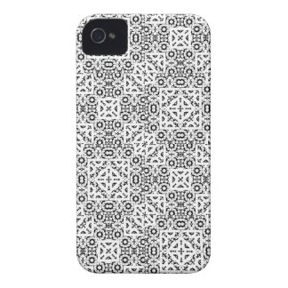 Black and White Oriental Ornate iPhone 4 Case