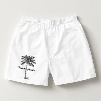 Black and White Orlando & Palm design Boxers