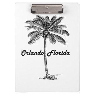 Black and White Orlando & Palm design Clipboards