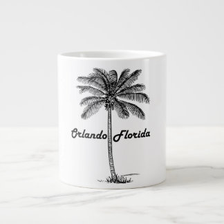 Black and White Orlando & Palm design Large Coffee Mug