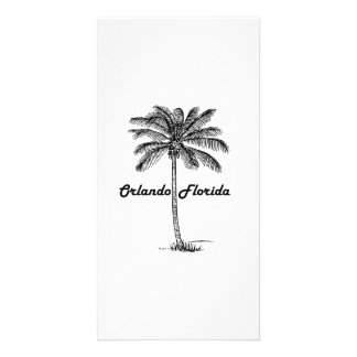 Black and White Orlando & Palm design Photo Cards