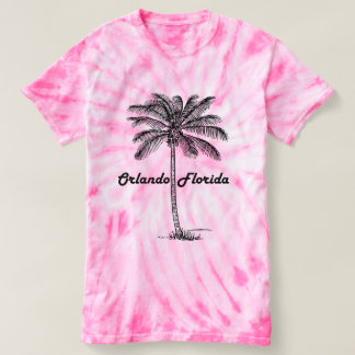 Black and White Orlando & Palm design T-Shirt