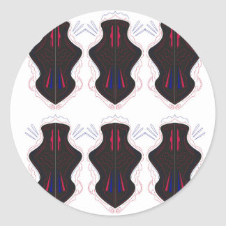Black and white Ornaments Classic Round Sticker