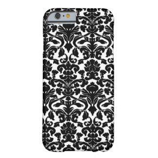 Black and White Ornate Floral Damask Pattern iPhone 6 Case