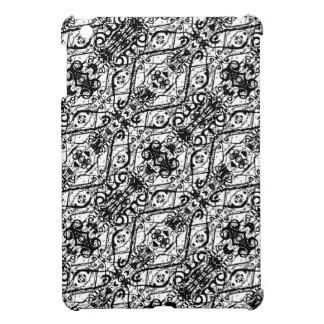 Black and White Ornate Pattern iPad Mini Cases