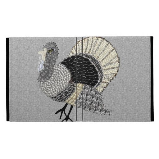 Black and White Ornate Thanksgiving Turkey iPad Case