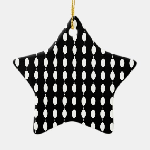 Black and White Ovals Pattern Ornaments
