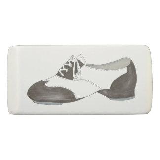 Black and White Oxford Tap Shoe Dance Teacher Gift Eraser