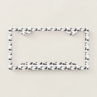 Black and White Oxford Tap Shoe Dance Teacher Gift Licence Plate Frame