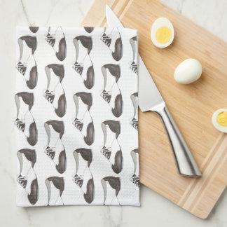 Black and White Oxford Tap Shoe Dance Teacher Gift Tea Towel