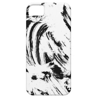 Black and White Paintbrush Pattern Barely There iPhone 5 Case