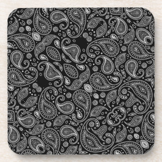 Black And White Paisley Coaster