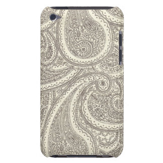 Black and White Paisley Pattern iPod Touch Cases