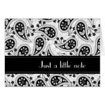 Black and White Paisley Pattern Greeting Card