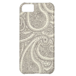 Black and White Paisley Pattern iPhone 5C Case