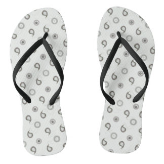 Black and White Paisley Thongs