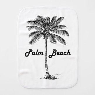 Black and white Palm Beach Florida & Palm design Burp Cloth