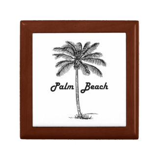 Black and white Palm Beach Florida & Palm design Gift Box