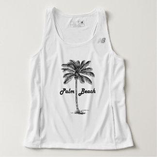 Black and white Palm Beach Florida & Palm design Singlet