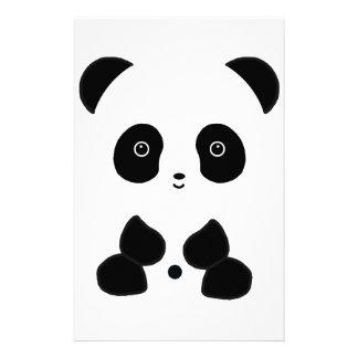 Black and White Panda Bear Custom Stationery
