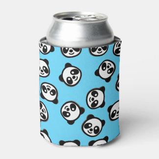 Black and White Panda Cartoon Pattern Can Cooler
