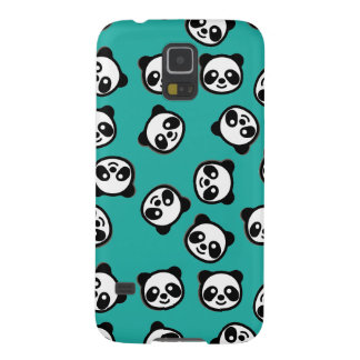 Black and White Panda Cartoon Pattern Galaxy S5 Case