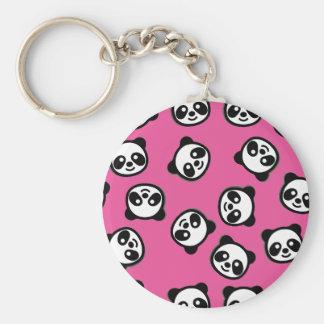 Black and White Panda Cartoon Pattern Key Ring