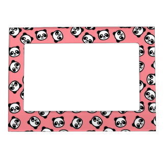 Black and White Panda Cartoon Pattern Magnetic Picture Frame