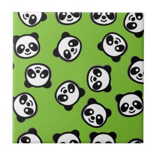 Black and White Panda Cartoon Pattern Tile